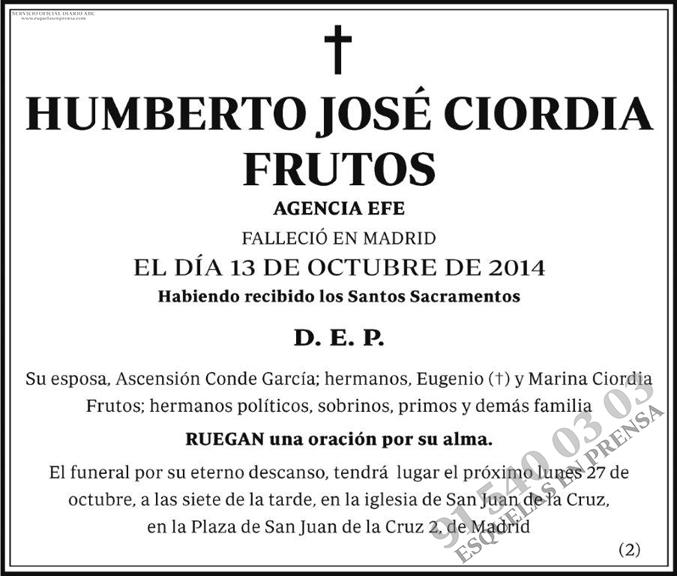 Humberto José Ciordia Frutos